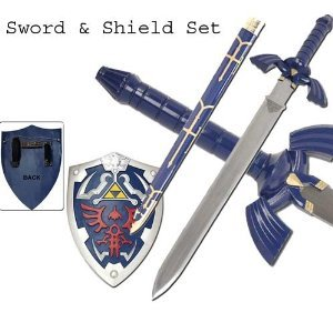 Zelda Replica Twilight Master Blue Sword/&Blue Shield Set