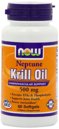 Now Foods Neptune Krill Oil 500mg Soft-gels, 60-Count