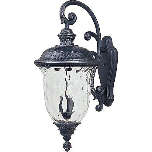 Maxim Lighting 3498WGOB Carriage House DC 3 Light Top Mount Outdoor 31 Inch  Wall Lantern, Oriental Bronze Finish