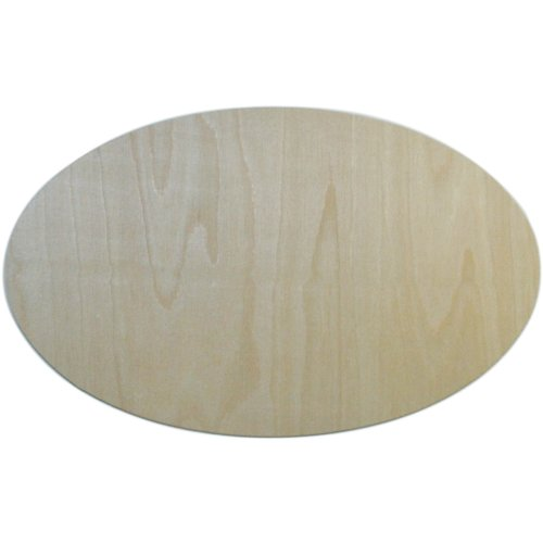 - MPI BBP-112 7-3/4-Inch by 12-1/2-Inch Unfinished Wood Baltic Birch Plaque, Oval