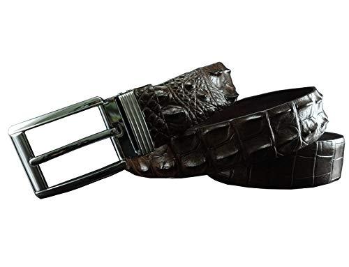 Genuine Glamorous Brown Hornback Crocodile Leather Skin Belts for Men 4 Cm ()