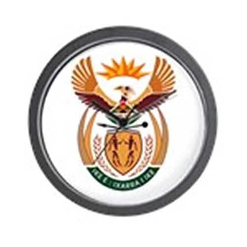 (CafePress South African Coat of Arms Wall Clock Unique Decorative 10