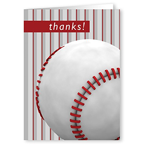 (Baseball Thank You Note Card- 18 Cards & Envelopes)