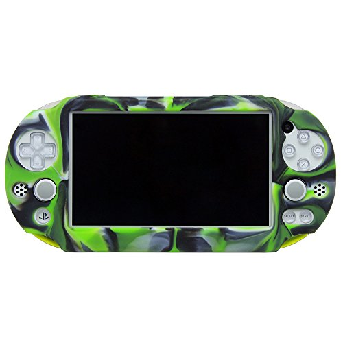 Pandaren Silicone Full cover Skin for PS Vita Slim PSV2000(Camouflage Green)