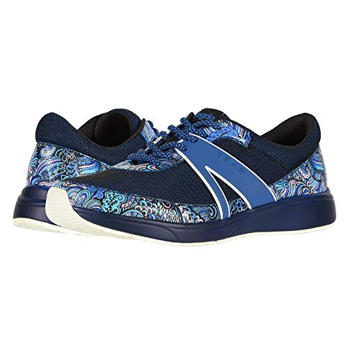 TRAQ BY ALEGRIA Womens Qarma Walking Shoe, Wild Child Blues, Size 38 EU (8-8.5 M US Women)