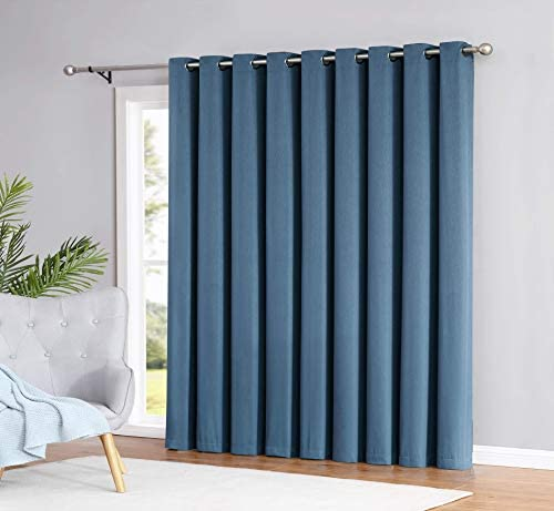 Madison – 100 Blackout Curtains – 96 Inch Long – Newly Innovated – Eco Friendly – Light Weight Fabric with Grommets – Heat and Light Blocking Drapes 110 W x 96 Long, Midnight Blue