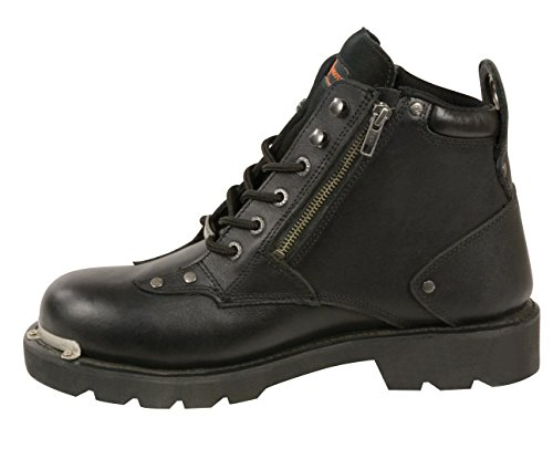 Milwaukee Leather Hombres Classic Motos Botas (negro, Tamaño 8)