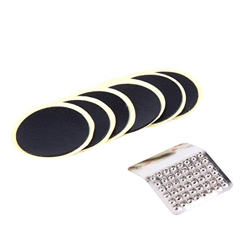 Alloet Cycling Bicycle Bike Repair Fix Kit Flat Tire Tyre Tube Patch Glueless Kit Contains 6 Glueless Patch and Sand Paper