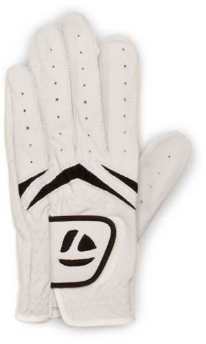 TaylorMade Stratus White/Black Golf Glove, Small, Left Hand