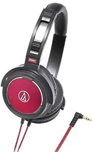 Audio Technica Headphones ATH-WS55 BLACK & RED (Japan Import)