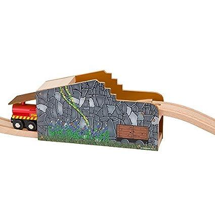 Secret Mine Tunnel Wooden Fits Thomas Railway System Brio Chuggington Melissa Doug Imaginarium Set