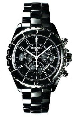 f1d91c1a7591 Amazon | (シャネル) CHANEL 腕時計 J12クロノグラフ H0940 ブラック ...