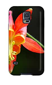 Hot New Columbine Flower Case Cover For Galaxy S5 With Perfect Design Sending Free Screen Protector