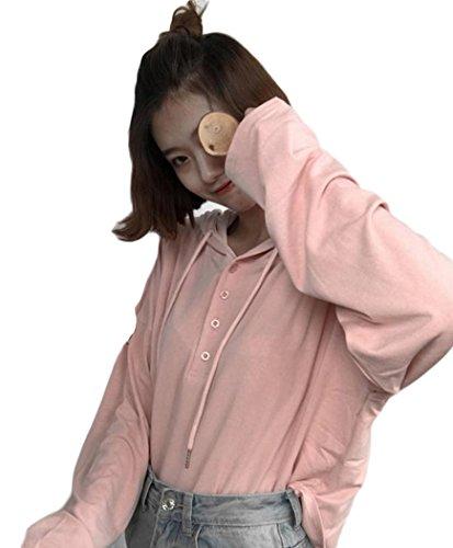 接続された爪難民BeiBang(バイバン)レディース トレーナー 薄手 ゆったり パーカー フード付 かわいい ノーカラー カジュアル ストリート トップス ドルマンスリーブ 着痩せ