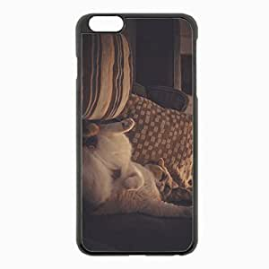 iPhone 6 Plus Black Hardshell Case 5.5inch - pillows lying sleeping Desin Images Protector Back Cover