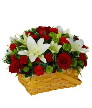 Winter is Coming Flowers - eshopclub Same Day Christmas Flower Delivery - Online Christmas Flowers - Christmas Flowers Bouquets & Plants - Send Christmas Centerpiece by eshopclub