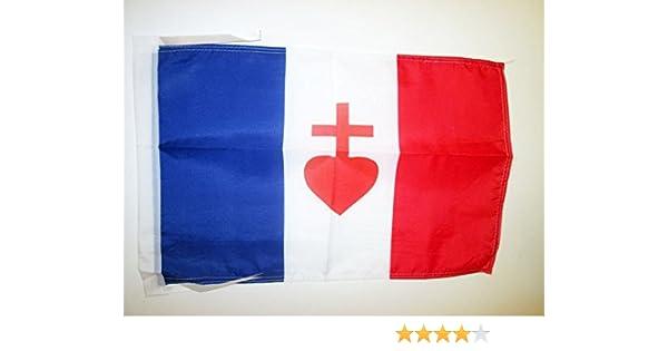AZ FLAG Bandera de Francia Corazon Sagrado DE JESÚS 45x30cm ...
