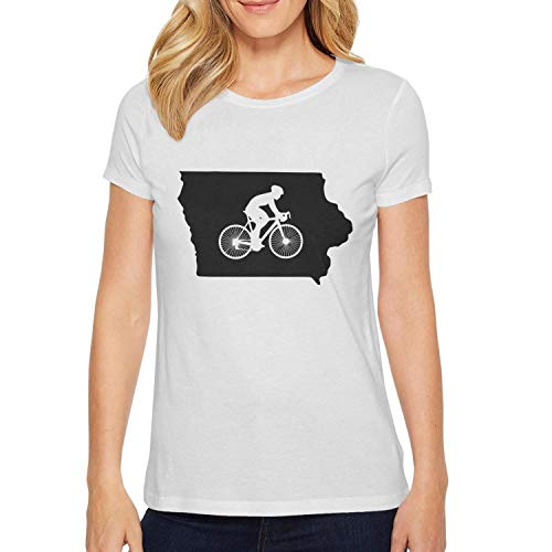 Milr Gile Women's Iowa Bike IA Round Neck T-Shirts,Summer Casual Short Sleeve Tee]()