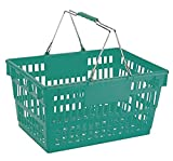 "Winholt LSB-1GR Customer Shopping Super Sani-Basket, 13"" x 19"" x 10"" Size, Green"