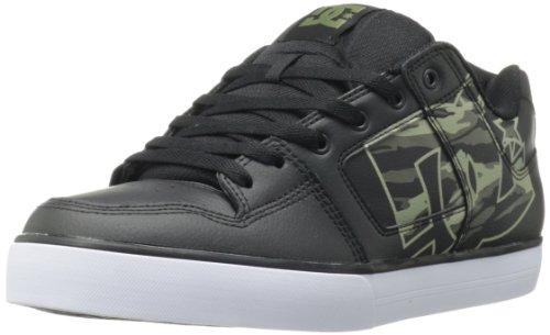 DC Men's Pure XE Sneaker,Black/Camo Print,9.5 M US