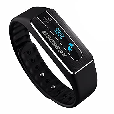 KESSDER Smart Wristband Bracelet Fitness Tracker with Heart Rate, Activity and Sleep Monitor, Calorie Counter£¬Call Notification,Magic NFC,Waterproof, App for Android and IOS ¡­