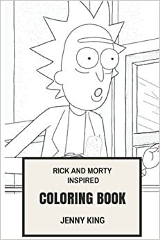 rick and morty inspired coloring book philosophocal science fiction animation and back to the future satire inspired adult coloring book - Science Coloring Book