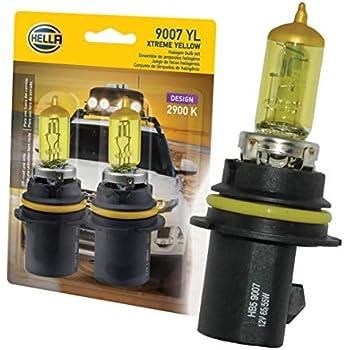 HELLA 9007 Yellow-65/55W YL Xtreme Yellow Bulbs, 12V, 65/55W 2 Pack