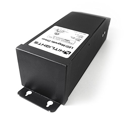 Dimmable LED Driver 150W (6.25A), Magnetic, 110V AC-24V DC Transformer Power Supply - Compatible w/Lutron & Leviton - For Light Strips in Kitchens, Cabinets, Bedrooms & More - Made in USA