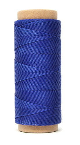 Mandala Crafts 0.45mm Leather Sewing Hand Stitching Jewelry Craft Round Waxed Thread String Cord (0.45mm, Blue) ()