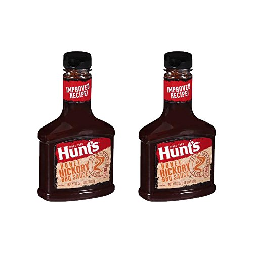 Hunts BBQ Sauce Honey Hickory 18oz 2 Pack