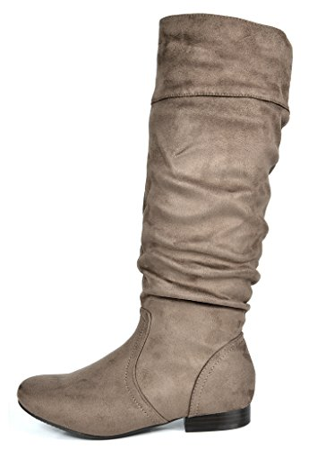 Wide Knee BLVD Calf wide Boots High Beltran Calf PAIRS Women's DREAM Taupe wI0aAq