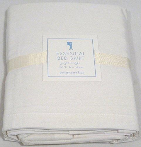 Pottery Barn Kids White Essential Full Bed Skirt 18''