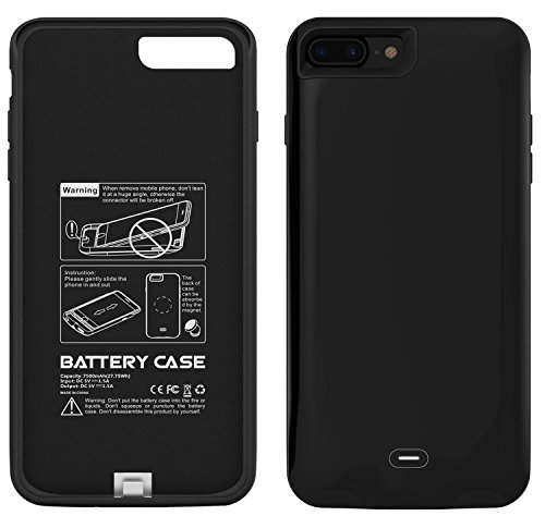 iPhone 7 Plus Battery claim Maxdara Charging claim 7500 mAh External Backup Battery Charger claim Rechargeable strength Bank claim for iPhone 7 Plus 55 inch Black Charger Cases