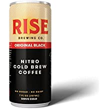 RISE Brewing Co. Original Black Nitro Cold Brew Coffee (12 7 fl. oz. Cans) - Sugar, Gluten & Dairy Free | Organic, Non-GMO Ingredients | Clean Energy, Low Acidity, Naturally Sweet | 0 Calories
