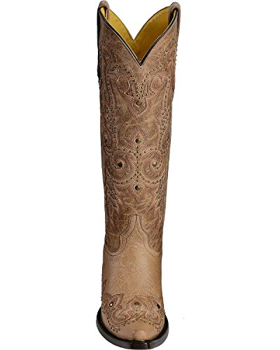 Innhegningen Kvinner Besatt Bein Skinn Cowgirl Boot Klipp Tå - G1032 Bein