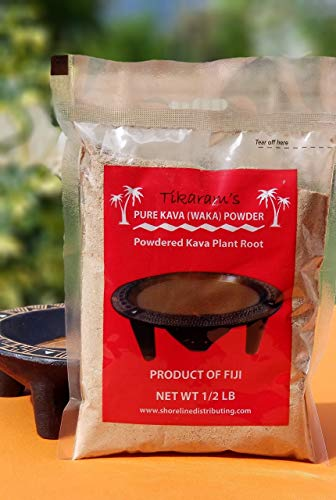 Kava Kava - Fiji Kava - Waka (Kava Root Powder) 1/2 Pound (8oz) - Fiji Market Wholesale