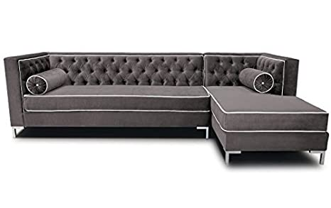 Amazon.com: decenni Tobias 8 foot Tufted Brazo Derecho ...