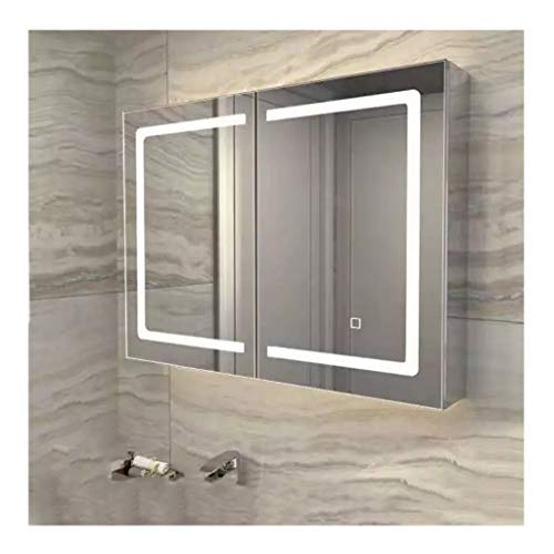XCJ Bathroom Cabinet Mirror Cabinet Illuminated Mirror Wall Modern LED Bathroom Mirror -