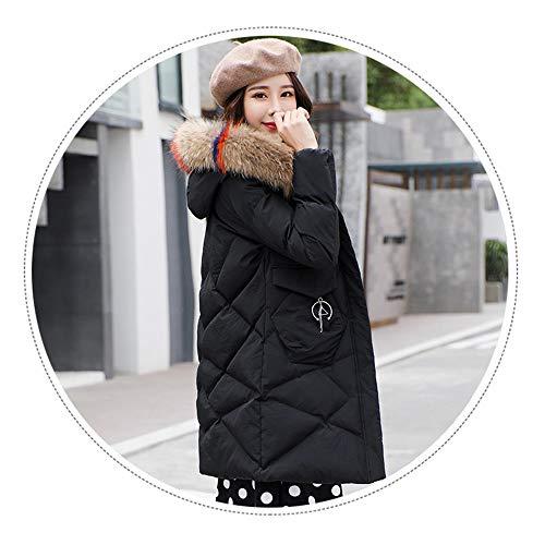 Spessa Nero Lavoro Donna Lunga Shirloy piumino In Sezione Da Cotone Imbottitura Invernale Giacca 7PSY5qw