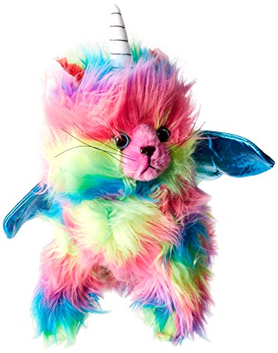 - Rainbow Butterfly Unicorn Kitten Stuffed Toy With Light Blue Wings Plush