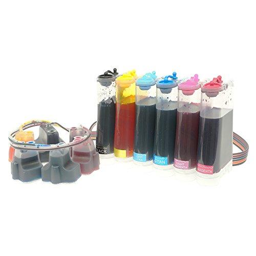 CISinks Continuous Ink Supply System CISS for HP 02 Printers - PhotoSmart 8230 8238 8250 8253 8288 3108 C6175 C6180 C6183 C6188 C6240 C6250 CIS ()