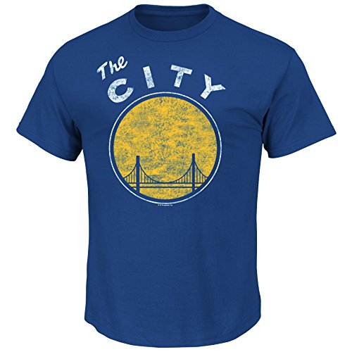 NBA Men's Majestic Weathered Post Up Short Sleeve Basic Crew Neck T-Shirt
