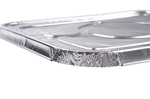 Aluminum Foil Lids for Aluminum Steam Table Pans, Fits Half-Size Pans (1 Bags of 20) by A World Of Deals (Image #2)