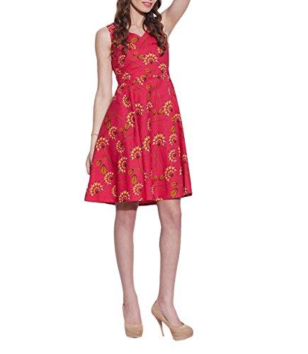 Femmes Accessoires Robe en coton imprimé, lavable en machine, W-CPD44-1605, Taille-44 pouces