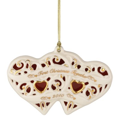 Lenox 2010 First Christmas Together Heart Ornament