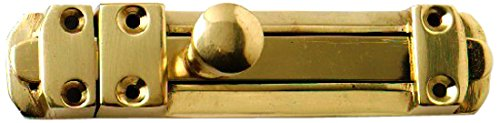 Bulk Hardware BH02590 Tower Surface Slide Door Bolt, 150mm (6 inch) - Polished Brass