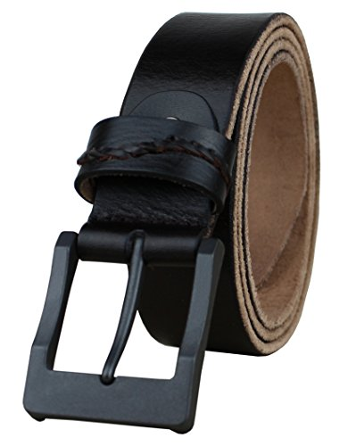 (Heepliday Mens Leather Belt Full Grain Vintage Distressed Casual Soft Strap 1 1/2