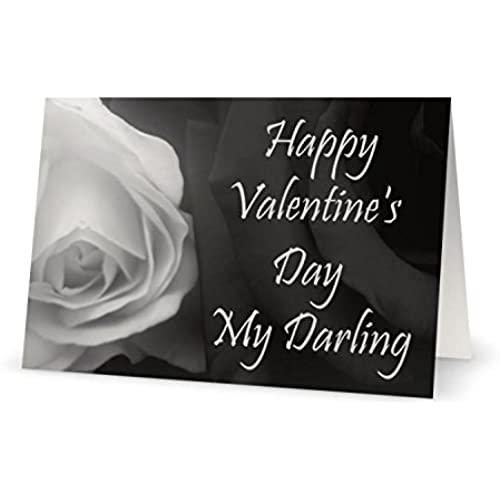 Valentines Day Lover Darling Spouse Husband Rose Wife Greeting Card 5x7 by QuickieCards Sales