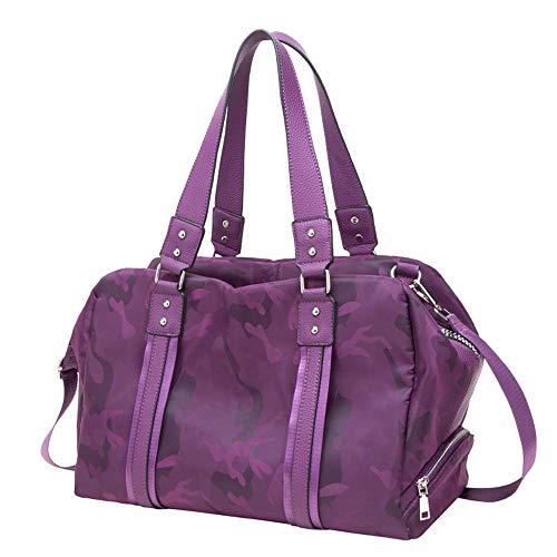 XuZeLii Ropa Interior Erotica Excursiones Paquete Portatil De Embarque Humedo Y Zapatos Secos Hombro Ligera Bolsa De Marea Bolsa Encaje Encaje Pareja Ropa Interior (Color Purple, Size 41x31x24cm)