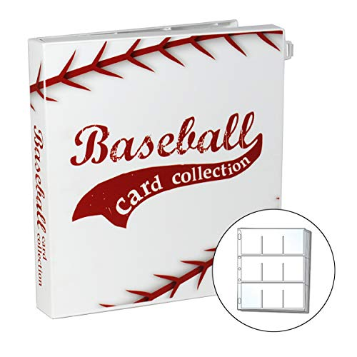 UniKeep Baseball Trading Card Collection Binder - Holds up to 180 Standard Size Cards (2 per Pocket) with Included EnvyPak Platinum Series Pages - Additional Pages Can Be Added